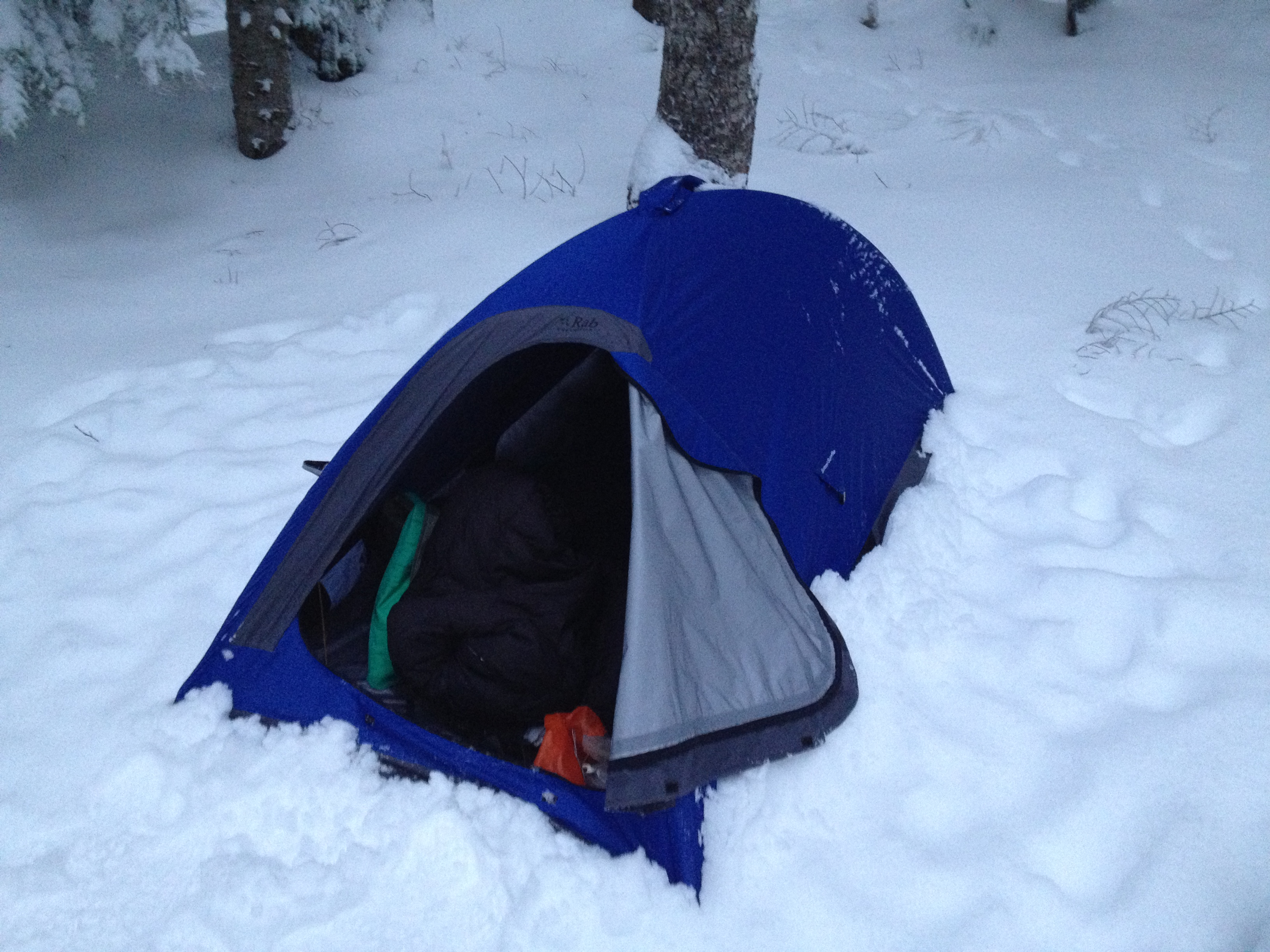 Sheds snow extremely well & Rab Summit Superlite Bivi Review | smackpacker.com